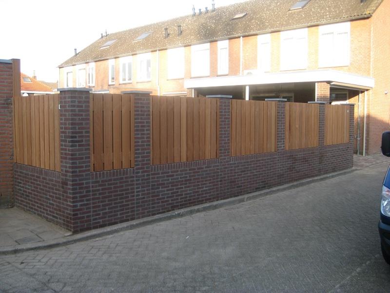 Hout beton schutting bankirai hout